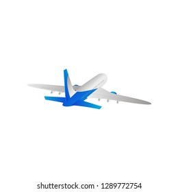 Iron bird plane in the sky. Jet plane with turbines.