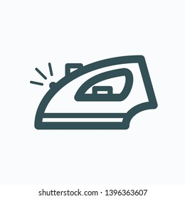 Iron outline icon, electric iron isolated vector icon