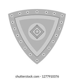 iron shield  icon - iron shield isolated ,  guard symbol illustration- Vector security