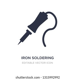 iron soldering icon on white background. Simple element illustration from Construction and tools concept. iron soldering icon symbol design.
