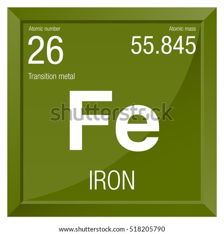 Iron Symbol Element Number 26 Periodic Stock Vector Royalty Free