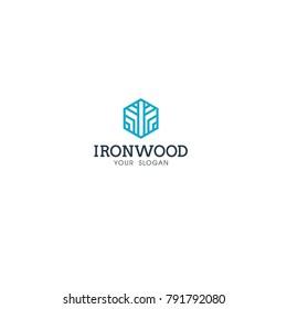 IRON WOOD LOGO