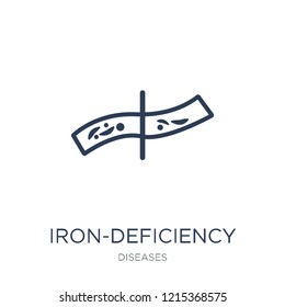Iron-deficiency anemia icon. Trendy flat vector Iron-deficiency anemia icon on white background from Diseases collection, vector illustration can be use for web and mobile, eps10