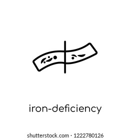 Iron-deficiency anemia icon. Trendy modern flat linear vector Iron-deficiency anemia icon on white background from thin line Diseases collection, editable outline stroke vector illustration