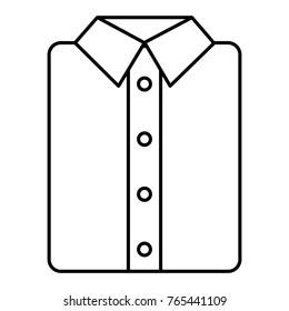 ironed shirt isolated icon