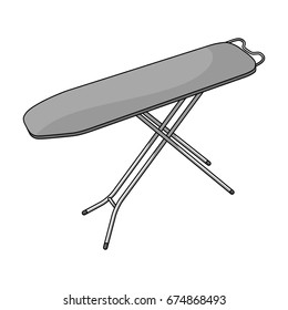 Ironing board. Dry cleaning single icon in outline style vector symbol stock illustration web.