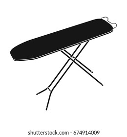 Ironing board. Dry cleaning single icon in black style vector symbol stock illustration web.