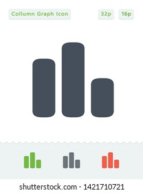 Irregular Collumn Graph - Sticker Icons. A professional, pixel aligned icon.