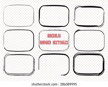 Irregular sketch rounded rectangles