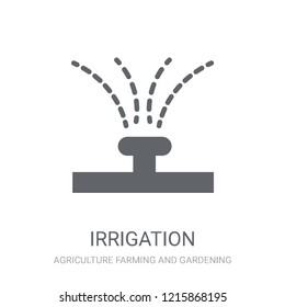 Irrigation icon. Trendy Irrigation logo concept on white background from Agriculture Farming and Gardening collection. Suitable for use on web apps, mobile apps and print media.