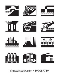 Irrigation, plumbing and water supply - vector illustration