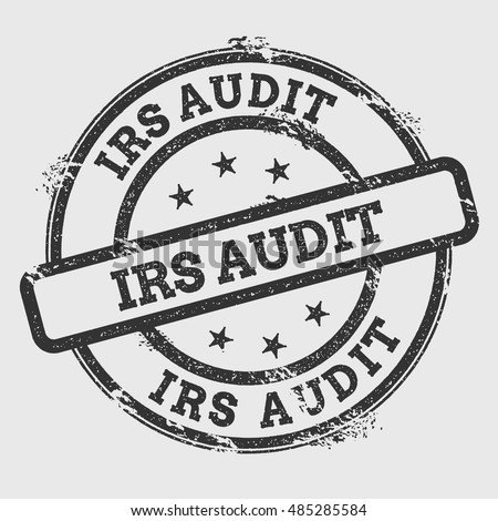 Irs Audit Rubber Stamp Isolated On Stock Vector Royalty Free