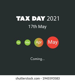 IRS Tax Day Is Coming - Design Template -- USA Tax Deadline, New Extended Date for IRS Federal Income Tax Returns: 17 May 2021