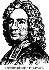 Isaac Watts, vintage engraved illustration