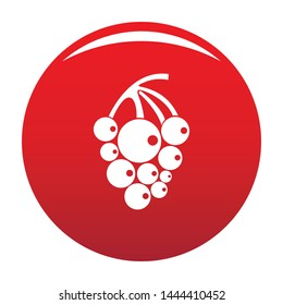 Isabella grapes icon. Simple illustration of isabella grapes vector icon for any design red