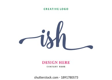 ISH lettering logo is simple, easy to understand and authoritative
