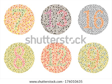 Ishihara Test. daltonism,color blindness disease. perception test,