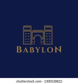 Ishtar Babilonia logo icon - Vector