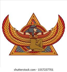 isis goddess tattoo design, vector EPS 10