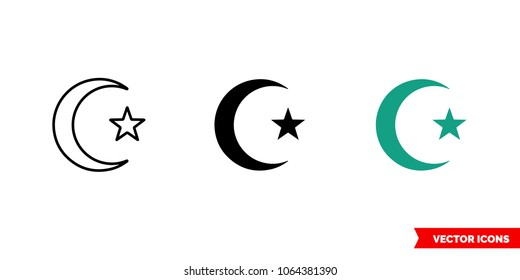 Muslim Symbol Star And Moon Images Stock Photos Vectors