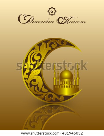 islam ramadan kareem template gold pattern stock vector royalty