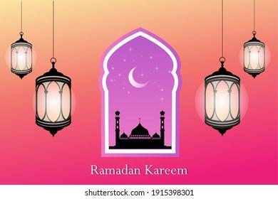 islamic background for ramadan kareem session vector illustration eps10