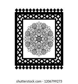 Islamic carpet vector icon