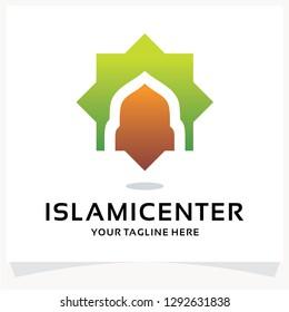 Islamic Center Logo. Mosque Logo Design Template Inspiration