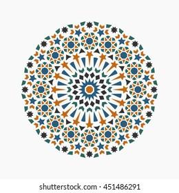 Islamic circle pattern.
