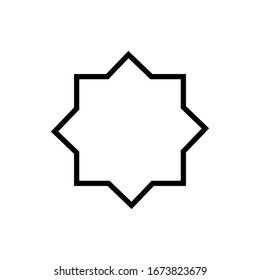 Islamic culture symbol. Simple monoline icon style for muslim ramadan and eid al fitr celebration.