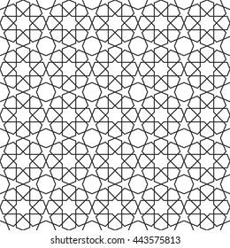 Islamic geometric art, arabic pattern vector, arabesque background