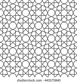 Islamic geometric pattern vector, arabesque background