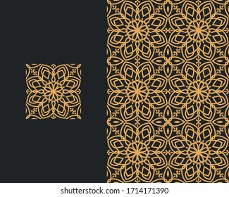 Islamic Geometric Patterns Design Vector