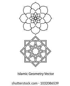 Islamic geometry vector. Ramadan and eid concept.