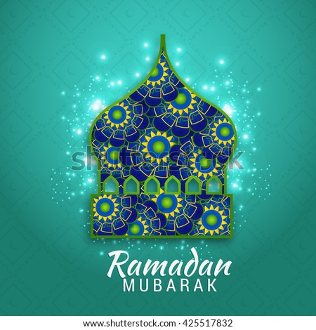 Islamic greeting card ramadan mubarak stock vector royalty free islamic greeting card of ramadan mubarak m4hsunfo