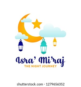 Islamic Holidays Al Isra' Wal Mi'raj Illustration Background Poster Design