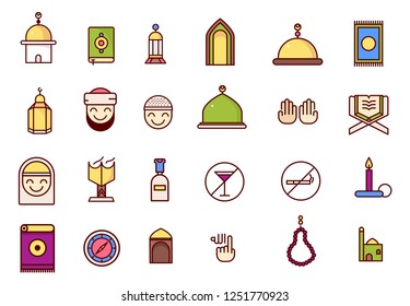 Islamic icons colored