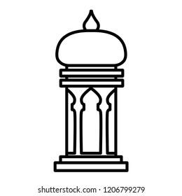 Islamic lantern vector icon