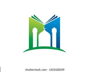 Islamic Library Logo Template, Icon, Symbol