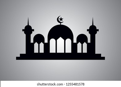 Islamic logo Silhouette Mosque Illustration
