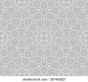 islamic ornament grey vector background