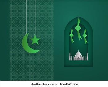 Islamic paper illustration