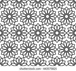 Islamic pattern, abstract geometric pattern vector, arabesque pattern