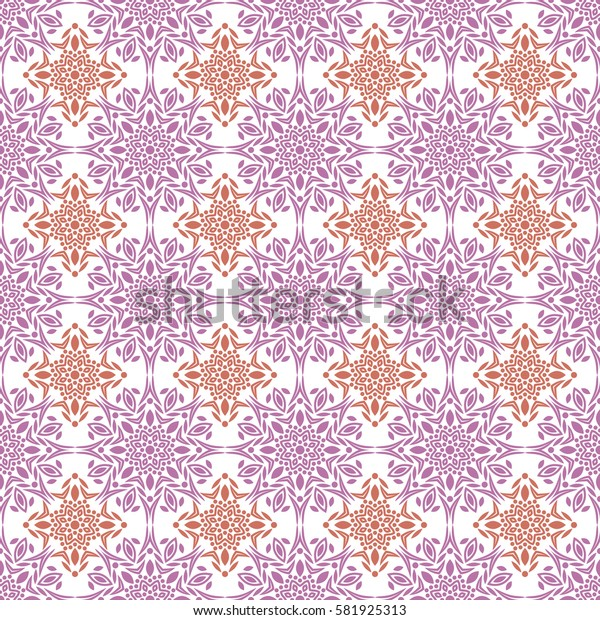 Islamic pattern. Arabic, indian, japanese motifs. Mandala seamless pattern. Ethnic bohemian background. Wrapping and scrapbook paper. Print for fabric. Vector illustration