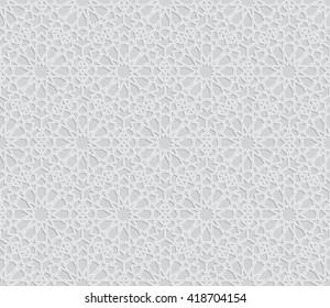 Islamic pattern. Seamless vector geometric background in arabian style