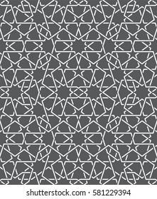 Фотообои Islamic pattern. Seamless vector geometric black and white lattice background in arabic style