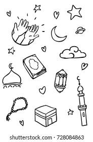 Islamic pattern vector, Hand drawn Illustration