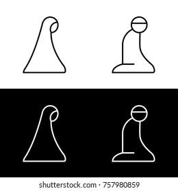 Islamic Prayer Room Area Sign Symbol Logo Icon Vector Illustration