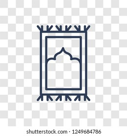 Islamic Praying Carpet icon. Trendy linear Islamic Praying Carpet logo concept on transparent background from Religion-2 collection
