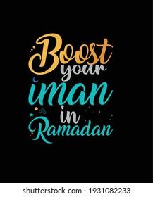 Islamic Ramadan typographic t-shirt 2021